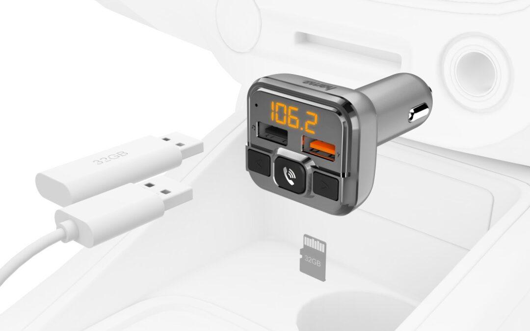 Hama FM oddajnik z Bluetooth® in prostoročno funkcijo